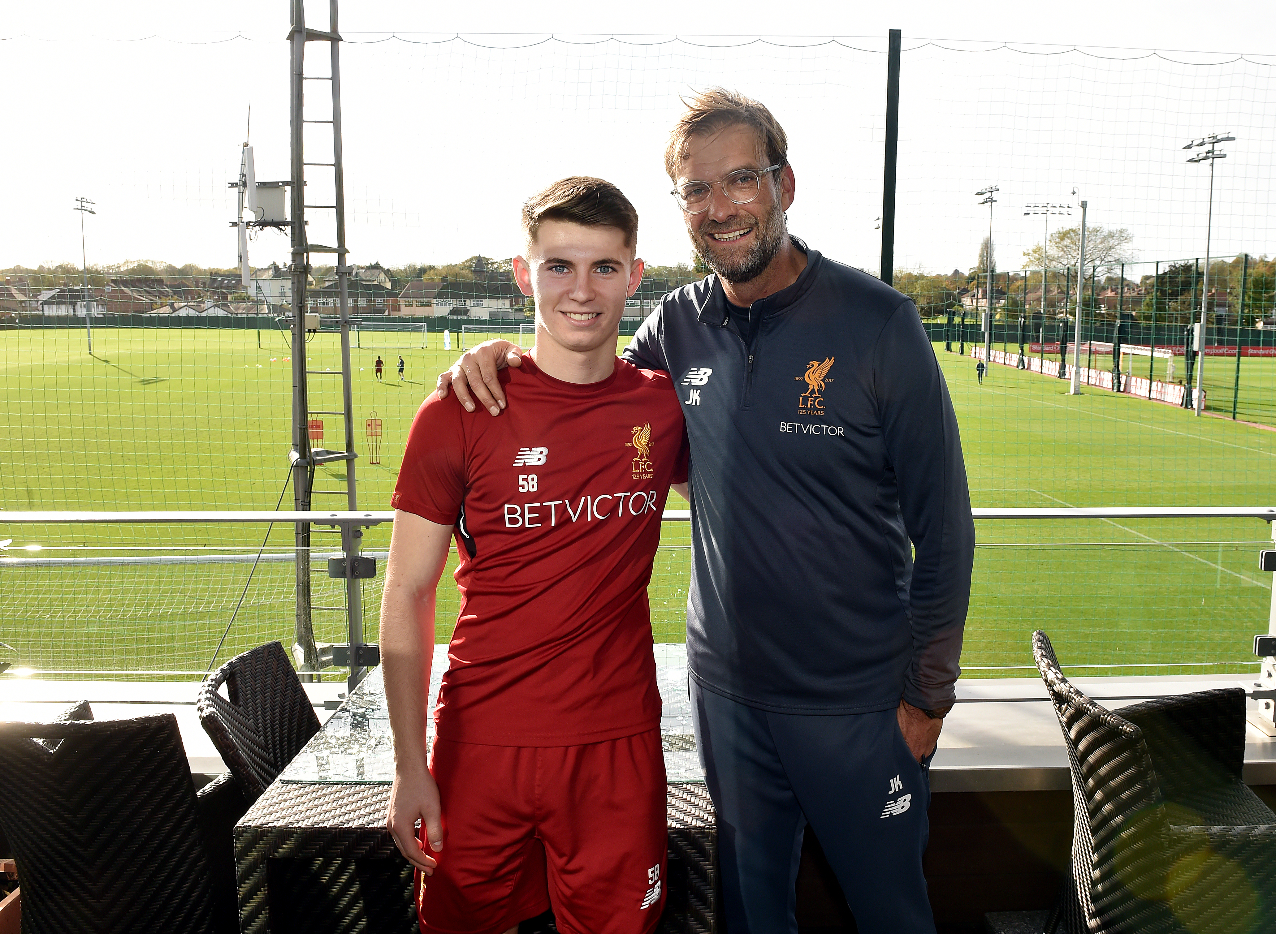 Jurgen Klopp and Ben Woodburn.