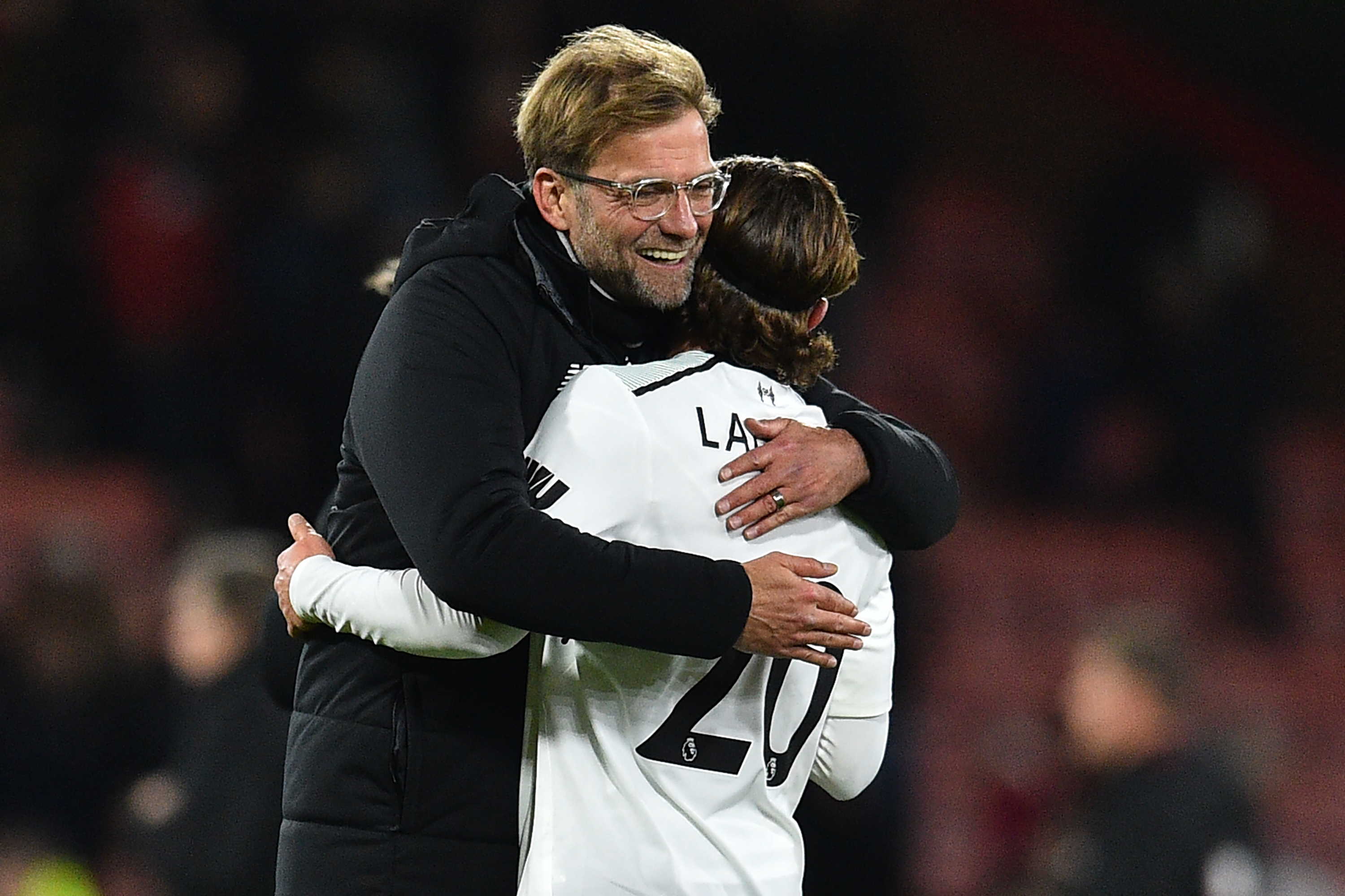 Jurgen Klopp and Adam Lallana.
