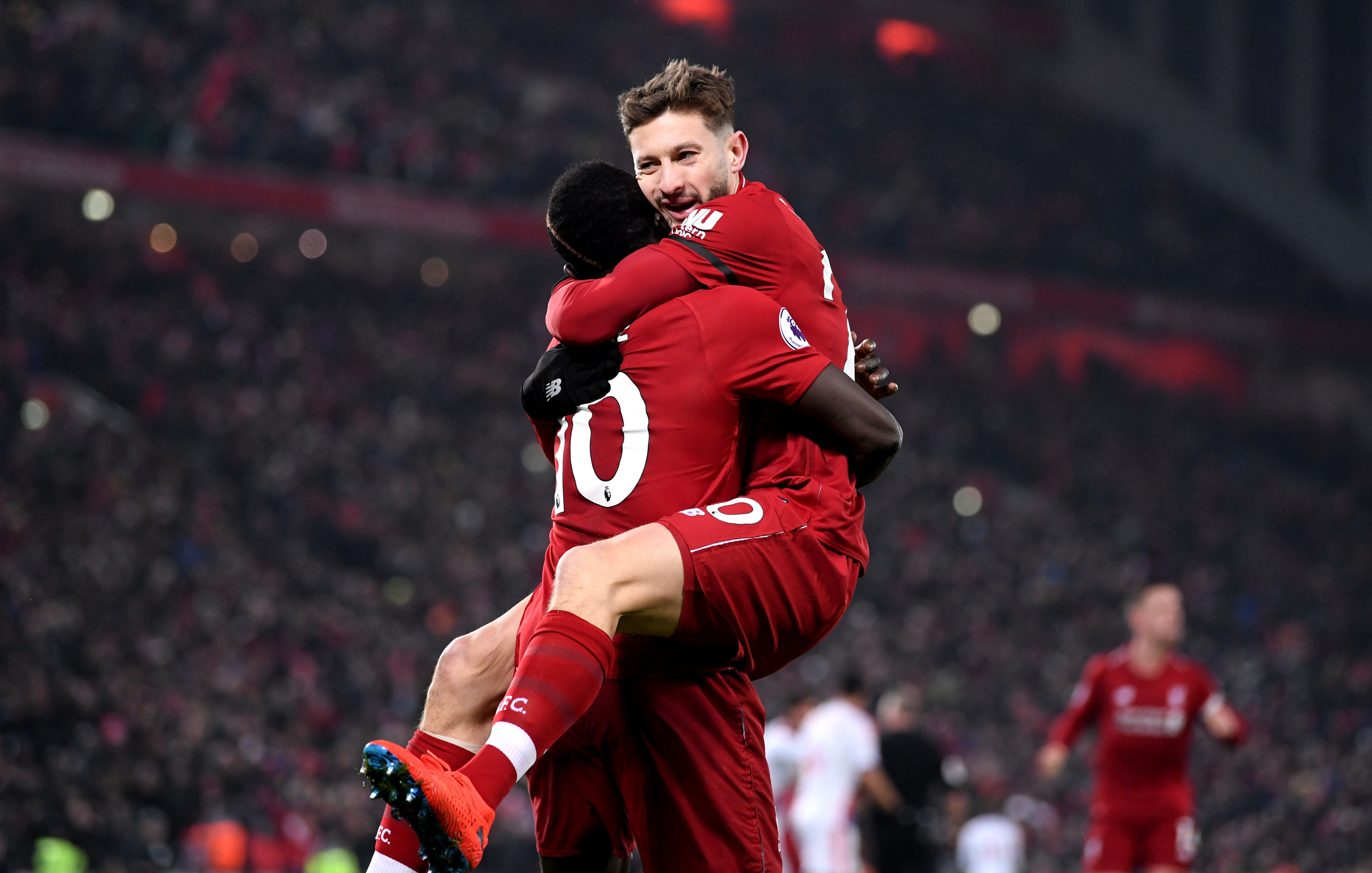 Sadio Mane and Adam Lallana.