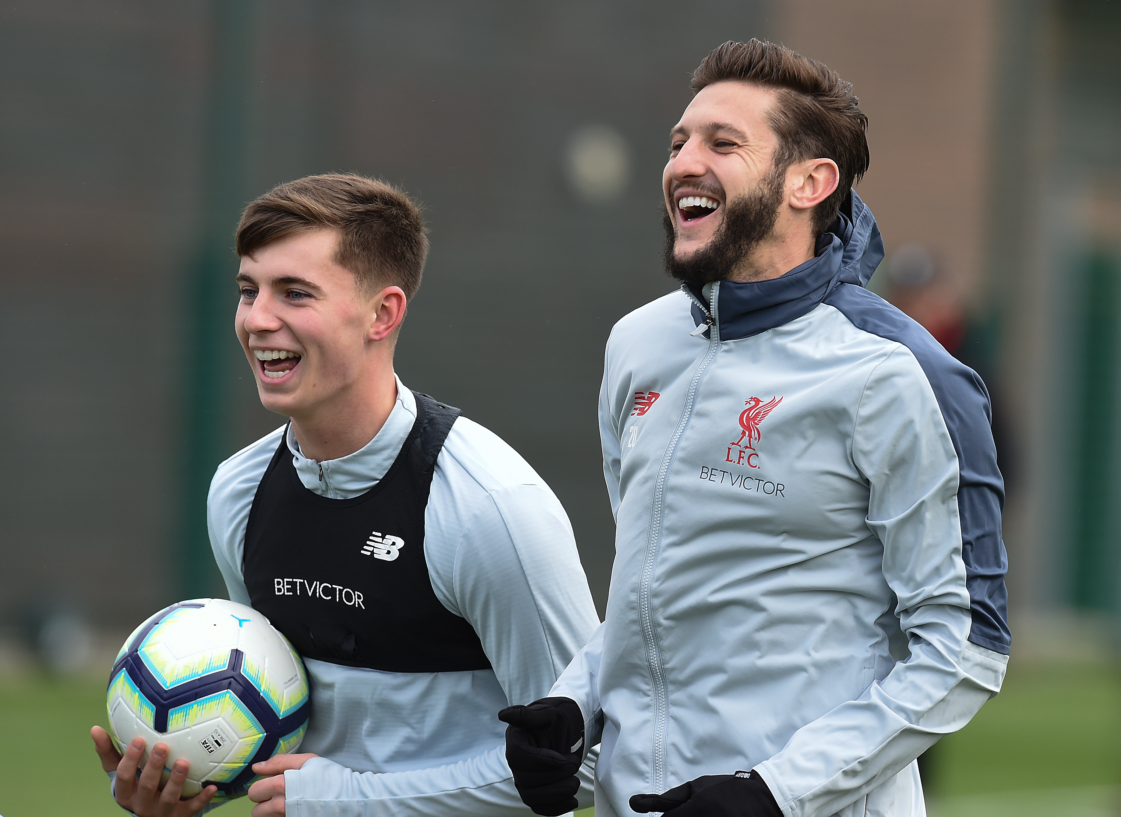 Ben Woodburn and Adam Lallana.