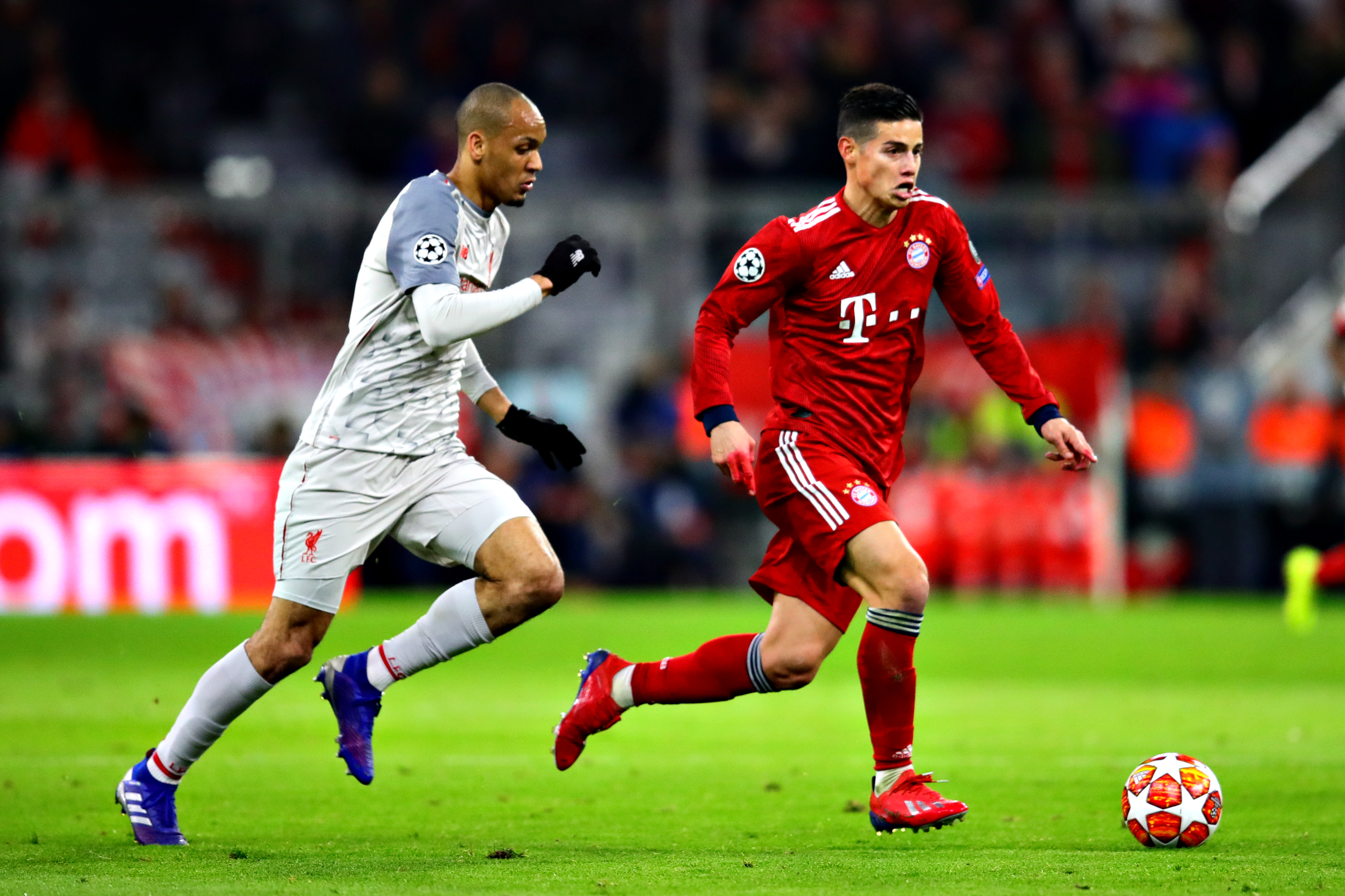 Fabinho and James Rodriguez.