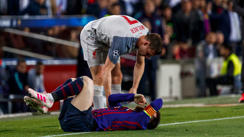 James Milner reveals spat with Lionel Messi in Champions League