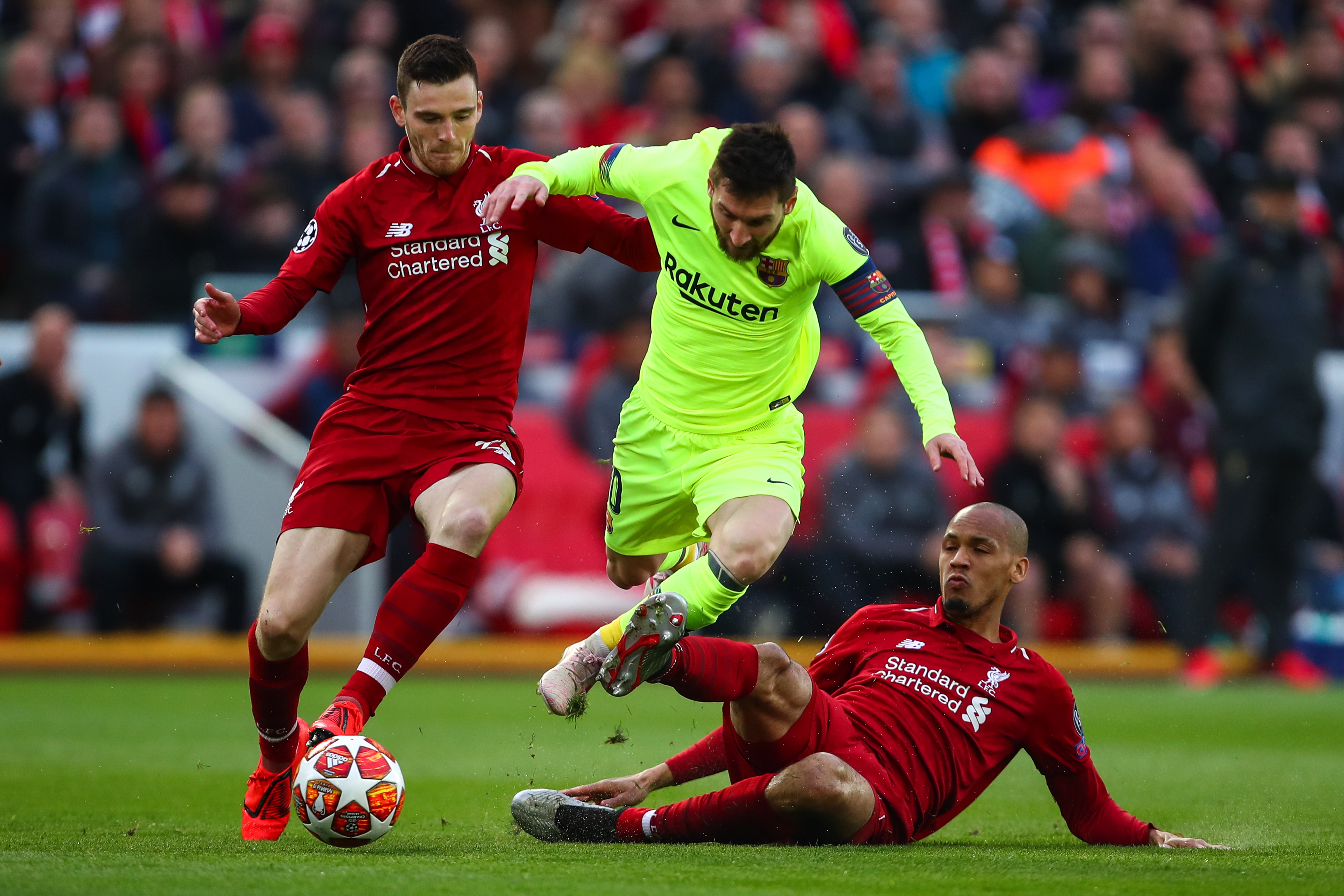 fabinho tackles messi
