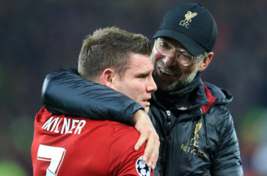 James Milner and Jurgen Klopp.