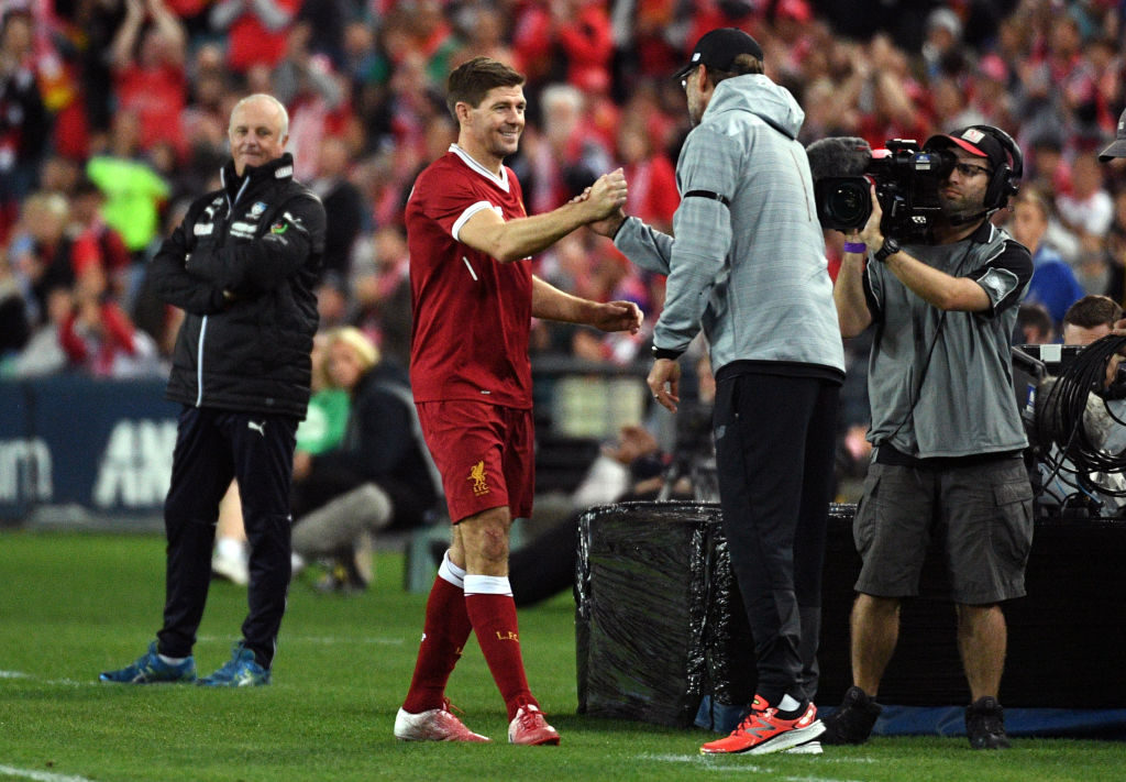 Steven Gerrard envies Liverpool players working with Jürgen Klopp