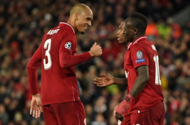 Fabinho and Sadio Mane.