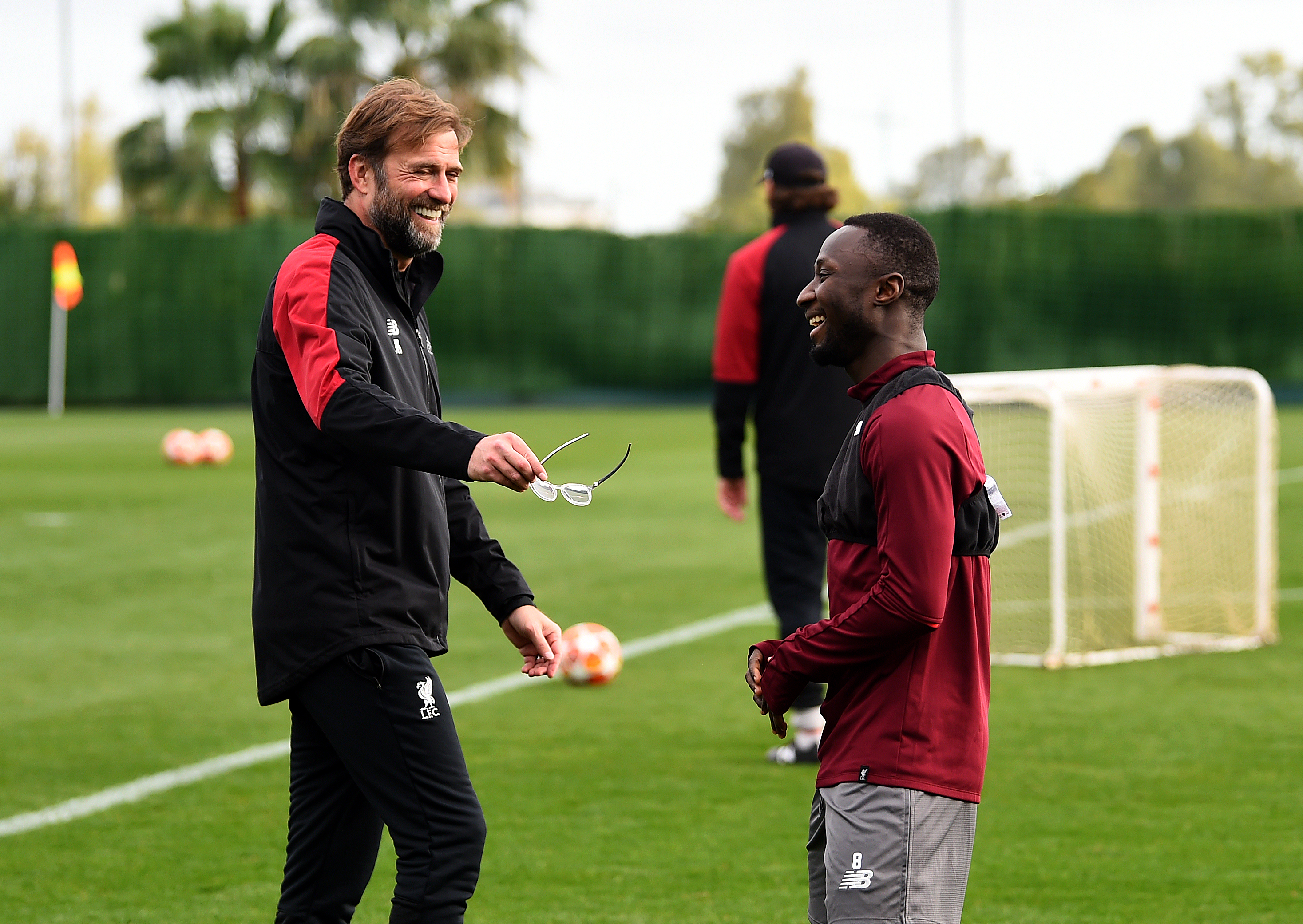 Jurgen Klopp and Naby Keita.