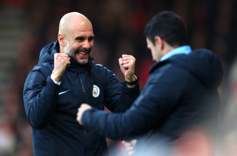 Pep Guardiola and Mikel Arteta.