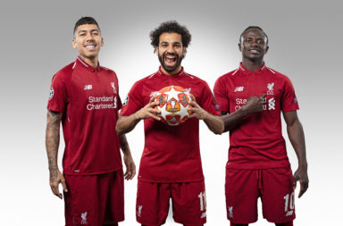 Roberto Firmino, Mohamed Salah and Sadio Mane.