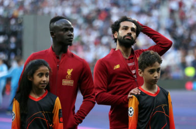 Sadio Mane and Mohamed Salah.