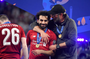 Mohamed Salah and Jurgen Klopp.