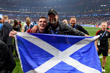 Andy Robertson hailed by international teammates.
