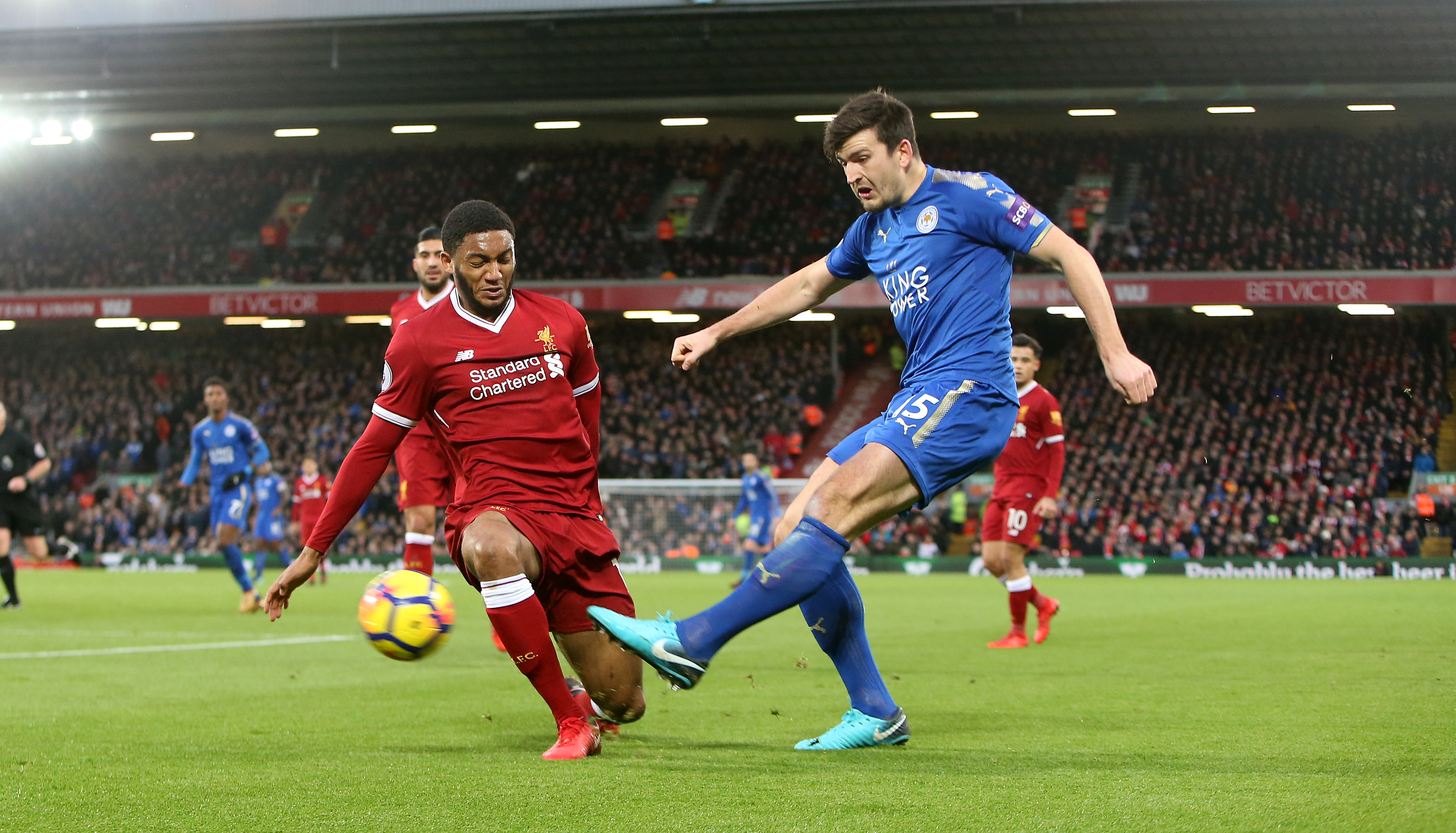 Joe Gomez and Harry Maguire.