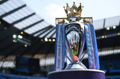Premier League trophy.