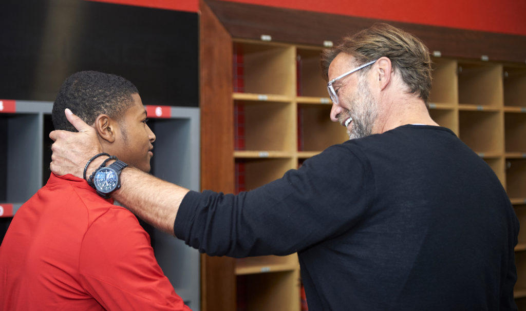 Rhian Brewster and Jurgen Klopp.