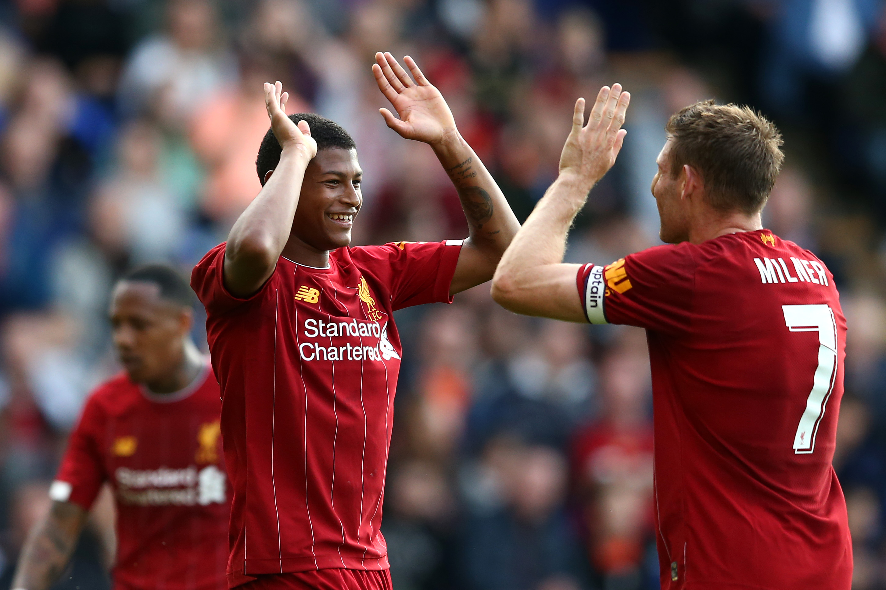 Rhian Brewster and James Milner.