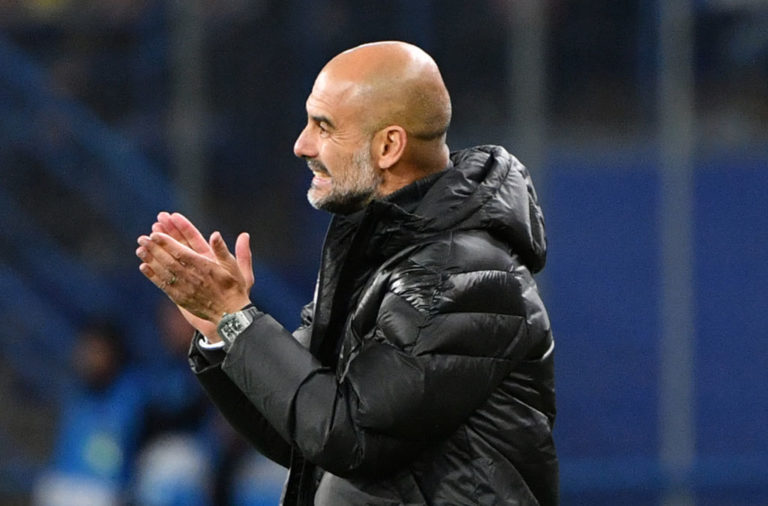 Man City boss Pep Guardiola.