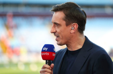 Gary Neville has talked about the Anfield atmosphere.