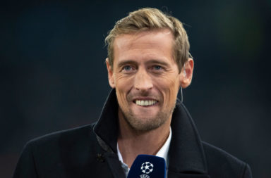 Peter Crouch has been heaping praise on the Liverpool front three.