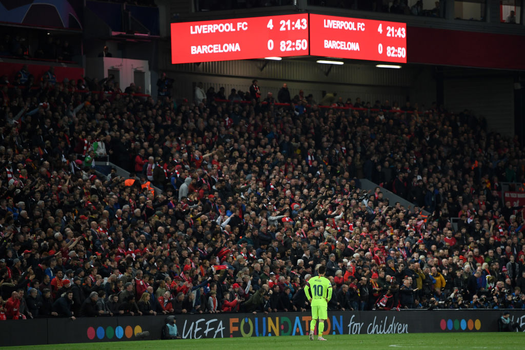 Liverpool supporters react to Shakira's Barcelona horror