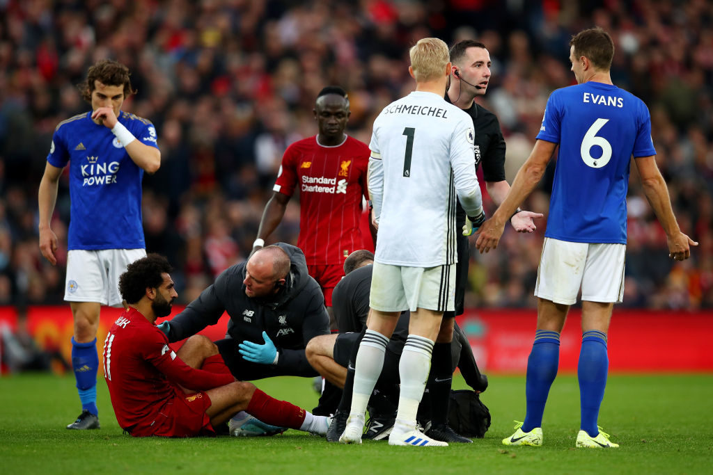 Mohamed Salah, injuries, Leicester City
