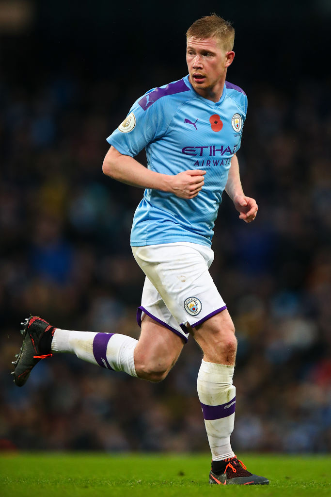 Kevin De Bruyne is one of three Man City players Liverpool need to stop on Sunday.