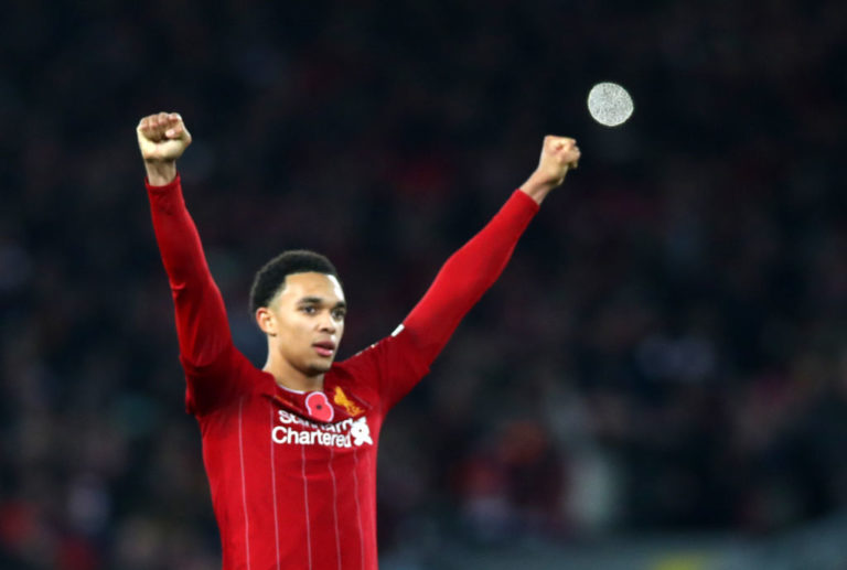 "Alexander-Arnold ""Up there"" with Gerrard and Alonso according to Crouch"