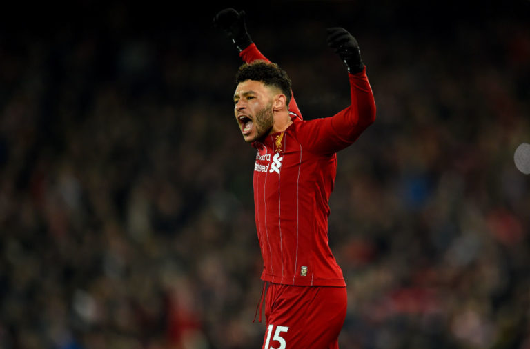 Alex Oxlade-Chamberlain has collected the award for Liverpool Player of the Month for October.