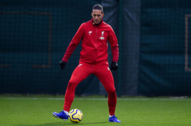 Virgil Van Dijk is in the Liverpool lineup to face Crystal Palace.