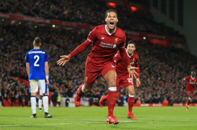 Virgil van Dijk scored on his debut against the Toffees, he is in the Liverpool lineup to face Everton tonight.