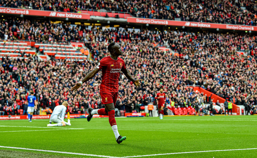 Liverpool goes 13 points clear of Leicester with 4-0 win