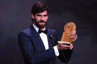 Alisson Becker has been awarded the inaugural Yachine Trophy.