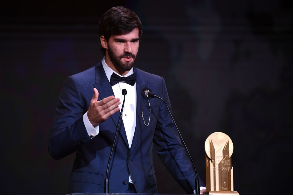 Image result for alisson ballon d'or trophy