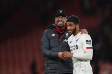 Joe Gomez has to take his chance in December and nail down a starting berth