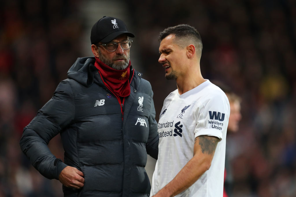Dejan Lovren is a clear fourth-choice at Anfield.