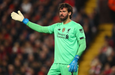 Alisson Becker is the first name in our predicted Liverpool lineup to face Sheffield United.