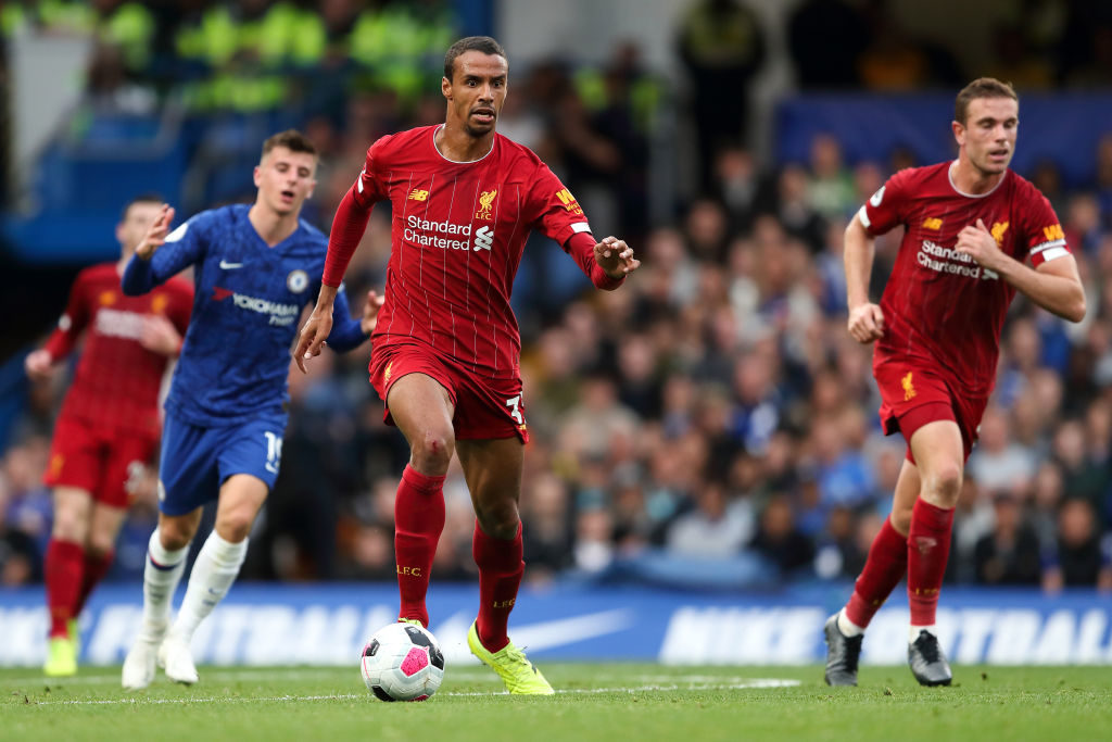 Joel Matip in action against Chelsea