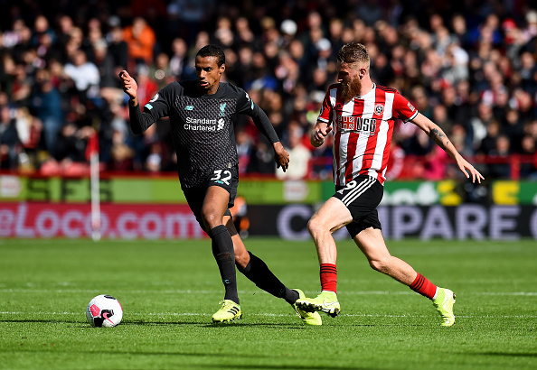 Joel Matip against Sheffield United