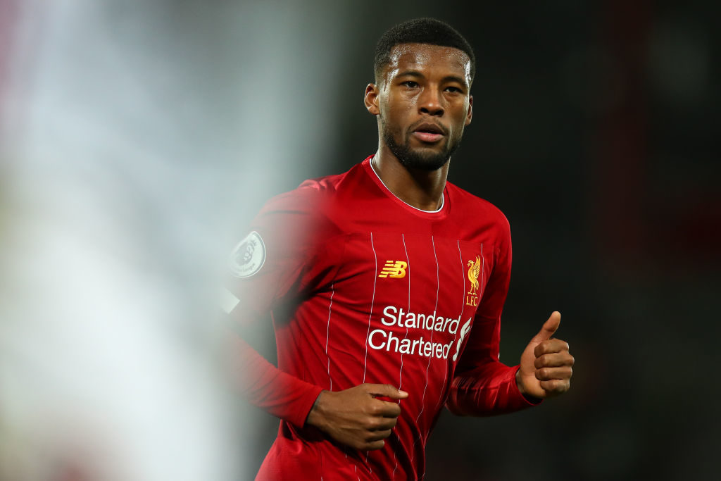 Gini Wijnaldum is coming to the end of his Liverpool contract