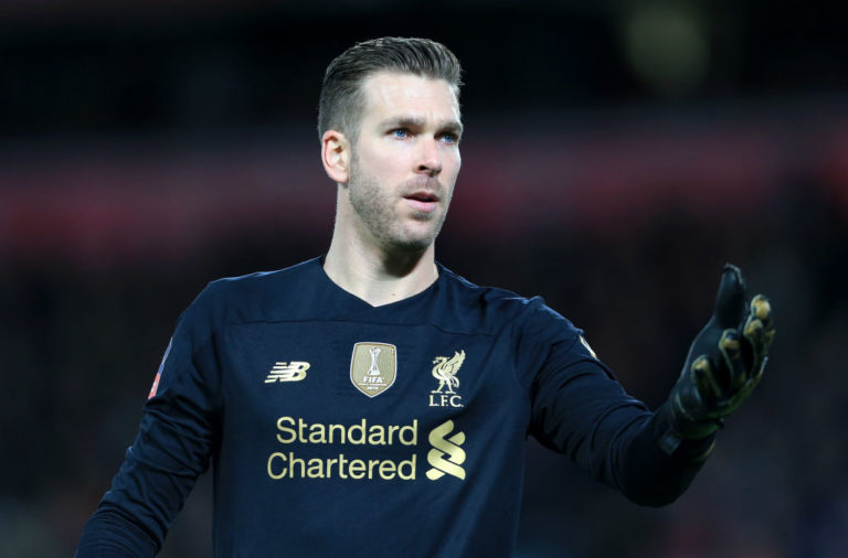 Adrian starts in goal in the Liverpool lineup to face Shrewsbury Town.
