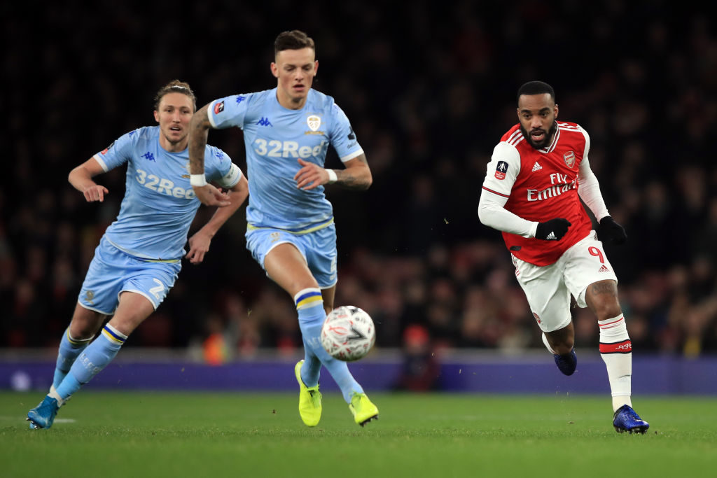 Ben White in action against Arsenal in the FA Cup