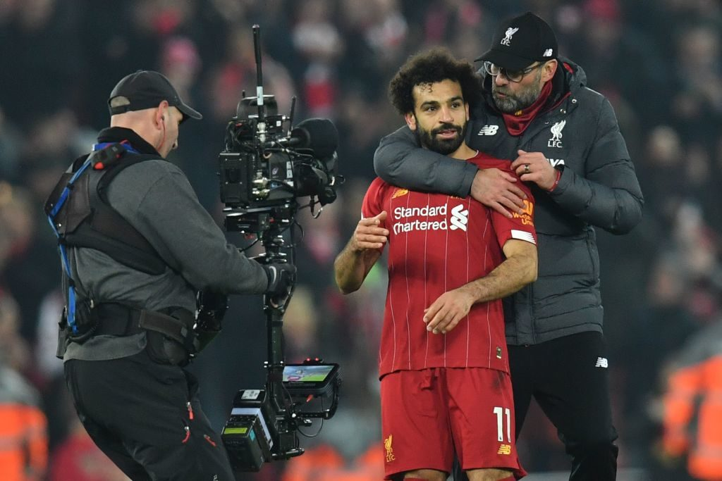 Mohamed Salah raced away against Manchester United to keep Liverpool's Premier League lead intact.