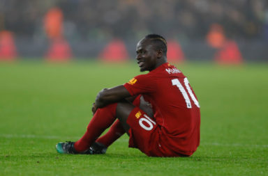 Sadio Mane went down with an injury against Wolves.