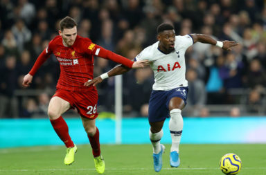 Andy Robertson and Serge Aurier