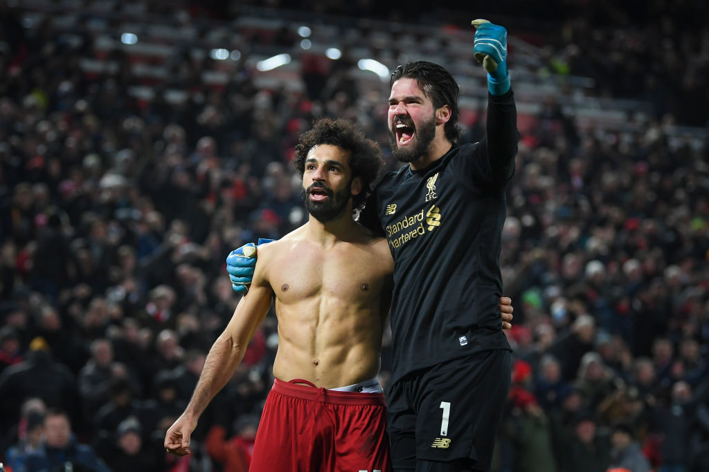 Liverpool fans were loving the Alisson Becker celebration against Manchester United.
