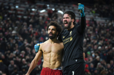 Mohamed Salah and Alisson Becker combined for Liverpool's second goal.