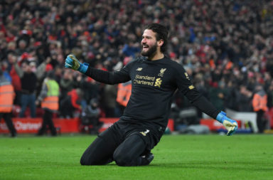 Alisson Becker could reach the top of the Golden Glove charts with a clean sheet against Wolves.