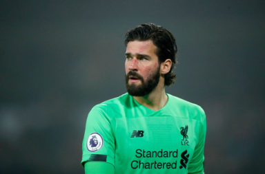 Alisson Becker is joint-top of the Golden Glove charts.