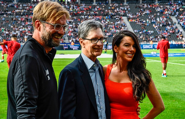 John Henry congratulated Jürgen Klopp in the tunnel after the Manchester United win.