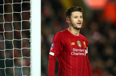 Leicester City are rumoured to be paying close attention to Adam Lallana.